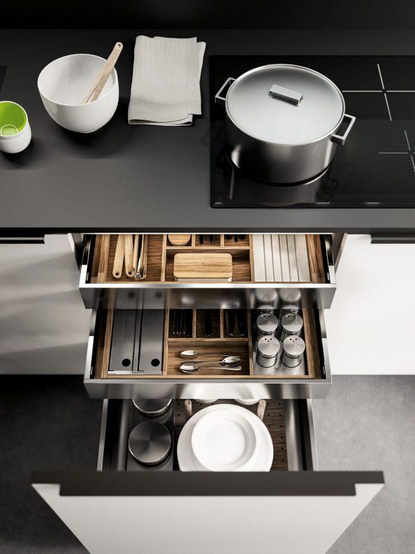 Cuisine Pascal Beaulaigue collection Kuba_Rio - Agencement 43 Riotord, dressing salle de bain cuisine